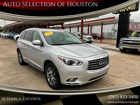 2015 Infiniti QX60 for sale at Auto Selection of Houston in Houston TX