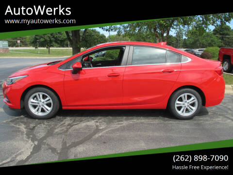 2017 Chevrolet Cruze for sale at AutoWerks in Sturtevant WI