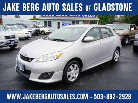 2009 Toyota Matrix for sale at Jake Berg Auto Sales in Gladstone OR