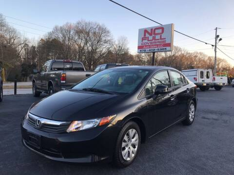 2012 Honda Civic for sale at No Full Coverage Auto Sales in Austell GA