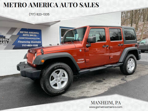 2014 Jeep Wrangler Unlimited for sale at METRO AMERICA AUTO SALES of Manheim in Manheim PA
