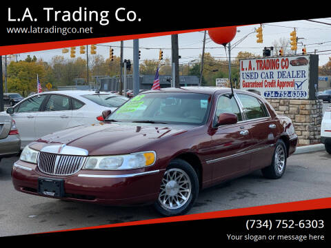 2002 Lincoln Town Car for sale at L.A. Trading Co. in Woodhaven MI