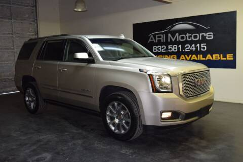 2017 GMC Yukon for sale at ARI Motors in Houston TX