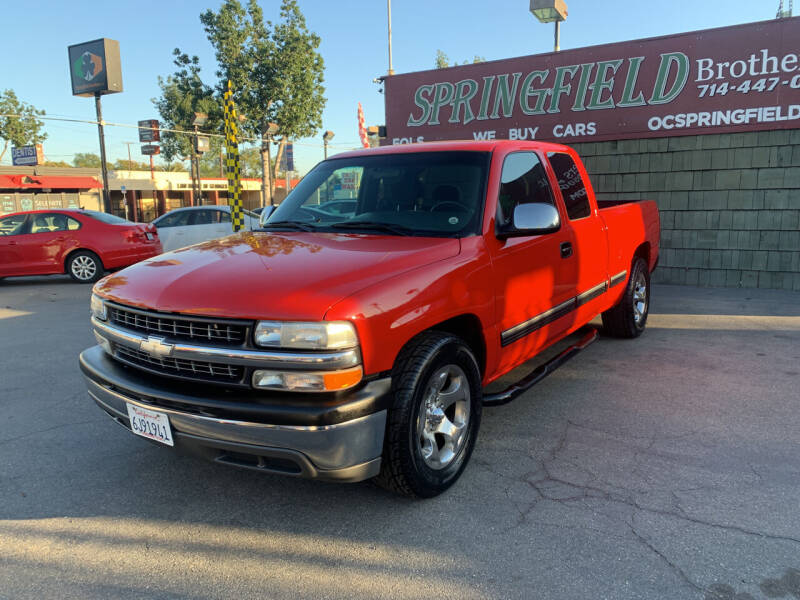 2001 Chevrolet Silverado 1500 for sale at SPRINGFIELD BROTHERS LLC in Fullerton CA