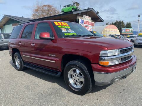 2002 Chevrolet Tahoe for sale at Low Auto Sales in Sedro Woolley WA