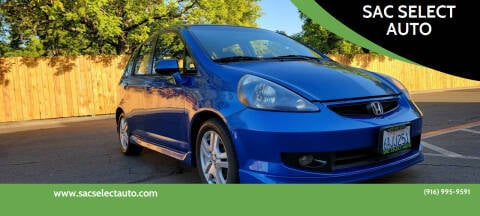2007 Honda Fit for sale at SAC SELECT AUTO in Sacramento CA