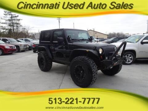 2008 Jeep Wrangler for sale at Cincinnati Used Auto Sales in Cincinnati OH