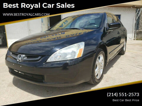 2006 Honda Accord for sale at Best Royal Car Sales in Dallas TX