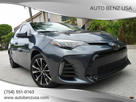 2019 Toyota Corolla for sale at AUTO BENZ USA in Fort Lauderdale FL