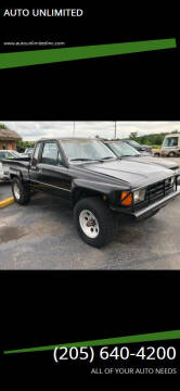 1985 Toyota Pickup for sale at AUTO UNLIMITED in Moody AL