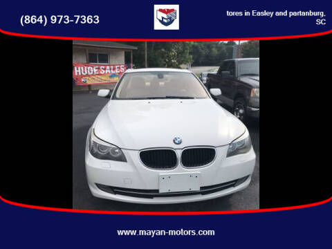 2008 BMW 5 Series for sale at Mayan Motors Easley in Easley SC