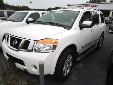 2012 Nissan Armada for sale at Tony's Auto Sales in Jacksonville FL