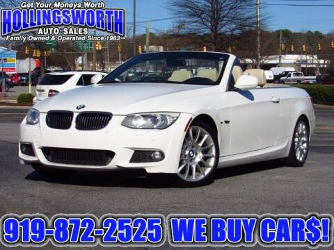 2011 BMW 3 Series for sale at Hollingsworth Auto Sales in Raleigh NC