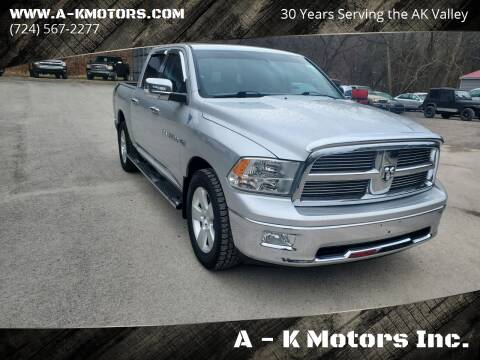 2011 RAM Ram Pickup 1500 for sale at A - K Motors Inc. in Vandergrift PA