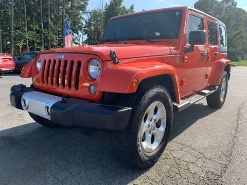 2015 Jeep Wrangler Unlimited for sale at Airbase Auto Sales in Cabot AR
