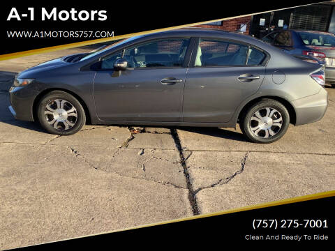 2013 Honda Civic for sale at A-1 Motors in Virginia Beach VA
