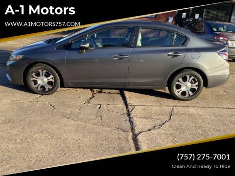 2013 Honda Civic for sale at A-1 Motors in Virginia Beach VA