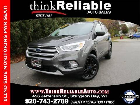 2017 Ford Escape for sale at RELIABLE AUTOMOBILE SALES, INC in Sturgeon Bay WI