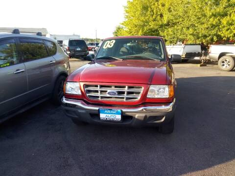 2002 Ford Ranger for sale at Arak Auto Group in Bourbonnais IL