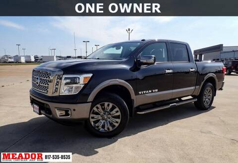 2018 Nissan Titan for sale at Meador Dodge Chrysler Jeep RAM in Fort Worth TX