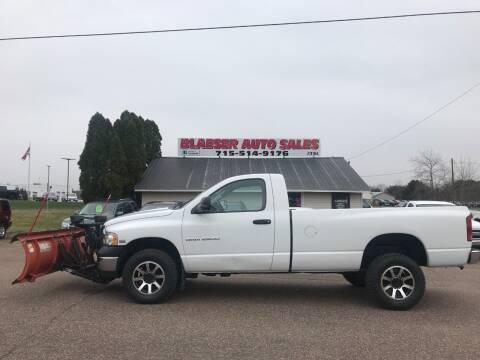 2003 Dodge Ram Pickup 2500 for sale at BLAESER AUTO LLC in Chippewa Falls WI