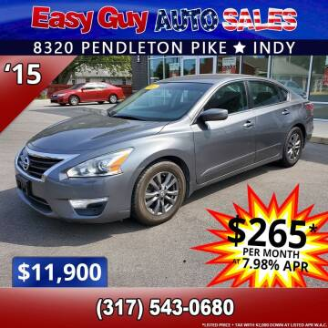 2015 Nissan Altima for sale at Easy Guy Auto Sales in Indianapolis IN