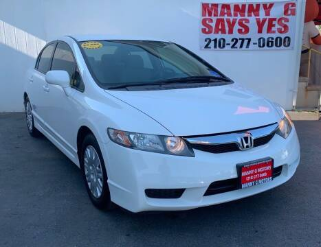 2009 Honda Civic for sale at Manny G Motors in San Antonio TX