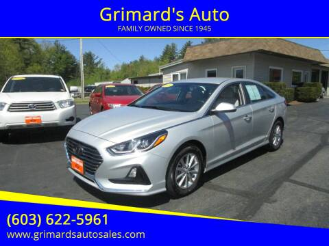 2019 Hyundai Sonata for sale at Grimard's Auto in Hooksett, NH