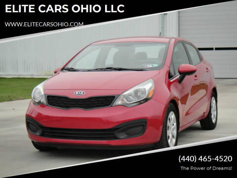 2012 Kia Rio for sale at ELITE CARS OHIO LLC in Solon OH