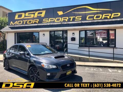 2016 Subaru WRX for sale at DSA Motor Sports Corp in Commack NY