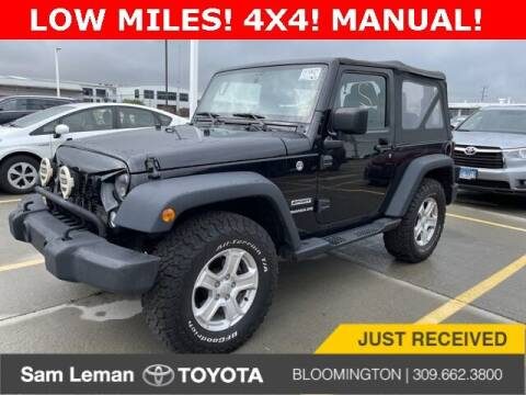 2016 Jeep Wrangler for sale at Sam Leman Toyota Bloomington in Bloomington IL