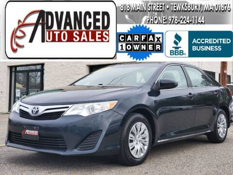 2014 Toyota Camry for sale at Advanced Auto Sales in Tewksbury MA