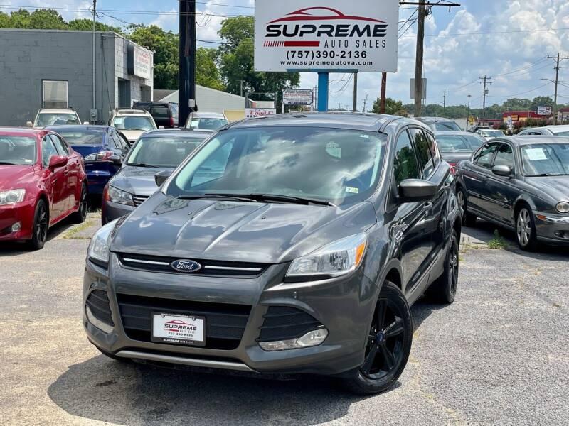 2015 Ford Escape for sale at Supreme Auto Sales in Chesapeake VA
