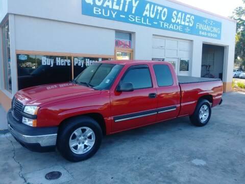 2003 Chevrolet Silverado 1500 for sale at QUALITY AUTO SALES OF FLORIDA in New Port Richey FL