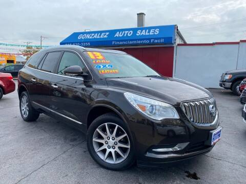 2013 Buick Enclave for sale at Gonzalez Auto Sales in Joliet IL