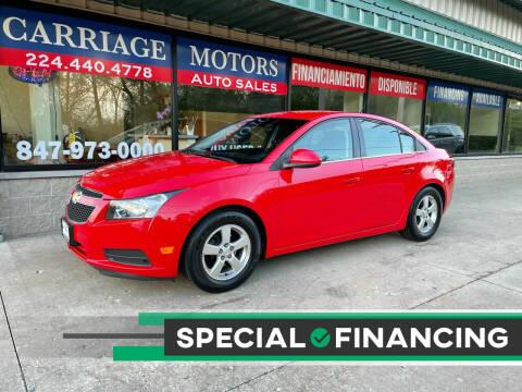 2014 Chevrolet Cruze for sale at Carriage Motors LTD in Ingleside IL