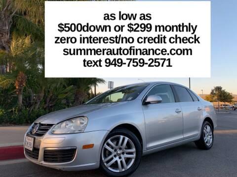 2007 Volkswagen Jetta for sale at SUMMER AUTO FINANCE in Costa Mesa CA