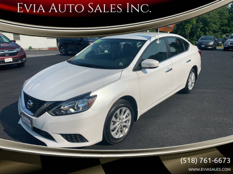2019 Nissan Sentra for sale at Evia Auto Sales Inc. in Glens Falls NY