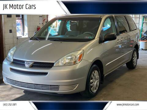 2004 Toyota Sienna for sale at JK Motor Cars in Pittsburgh PA