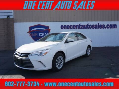 2017 Toyota Camry for sale at One Cent Auto Sales in Glendale AZ