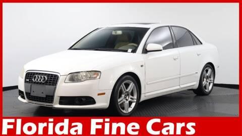 2008 Audi A4 for sale at Florida Fine Cars - West Palm Beach in West Palm Beach FL