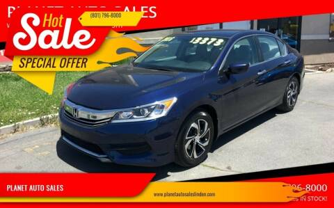 2016 Honda Accord for sale at PLANET AUTO SALES in Lindon UT