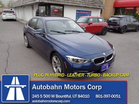 2018 BMW 3 Series for sale at Autobahn Motors Corp in Bountiful UT