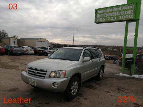 2003 Toyota Highlander for sale at Independent Auto in Belle Fourche SD