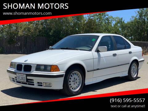 1993 BMW 3 Series for sale at SHOMAN MOTORS in Davis CA