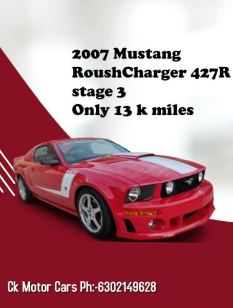 2007 Ford Mustang for sale at CK MOTOR CARS in Elgin IL