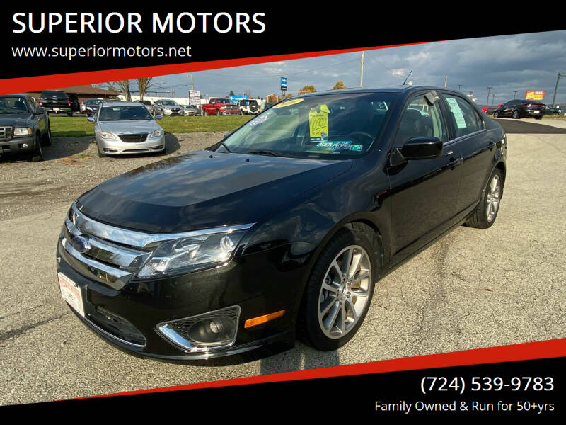 2010 Ford Fusion for sale at SUPERIOR MOTORS in Latrobe PA