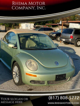 2009 Volkswagen New Beetle Convertible for sale at Rhima Motor Company, Inc. in Haltom City TX