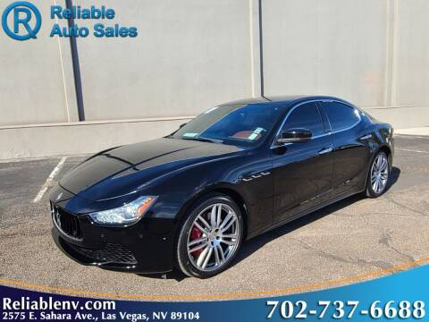 2017 Maserati Ghibli for sale at Reliable Auto Sales in Las Vegas NV