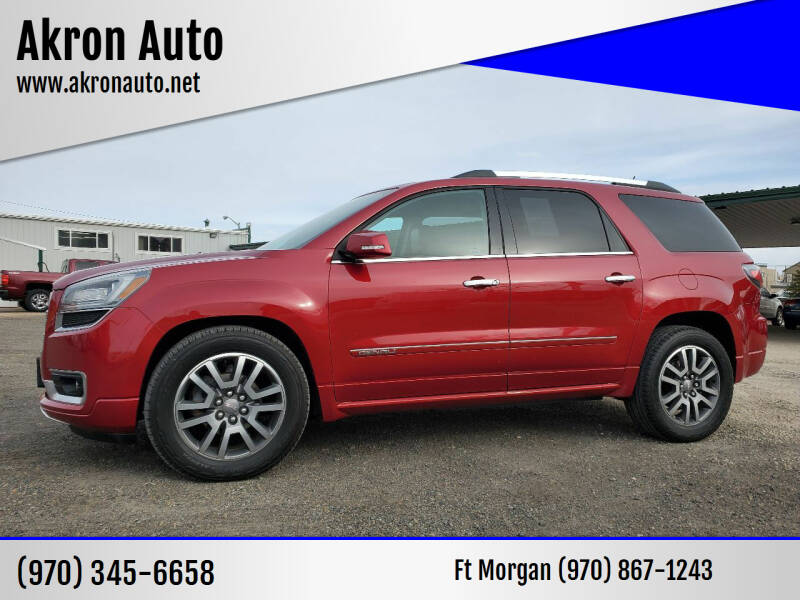 2014 GMC Acadia for sale at Akron Auto - Fort Morgan in Fort Morgan CO